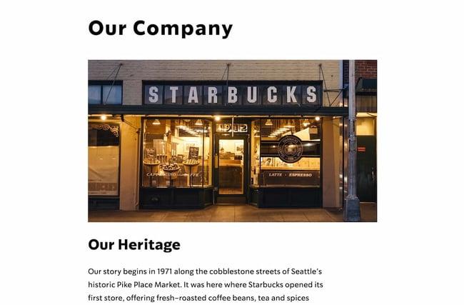 Company profile example: Starbucks (full)
