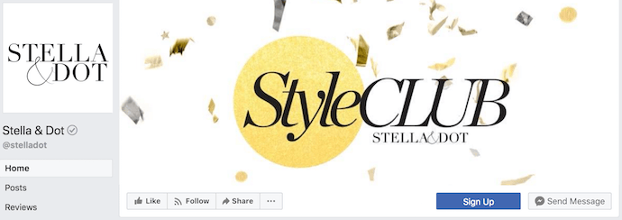 Stella & Dot Facebook Business Page