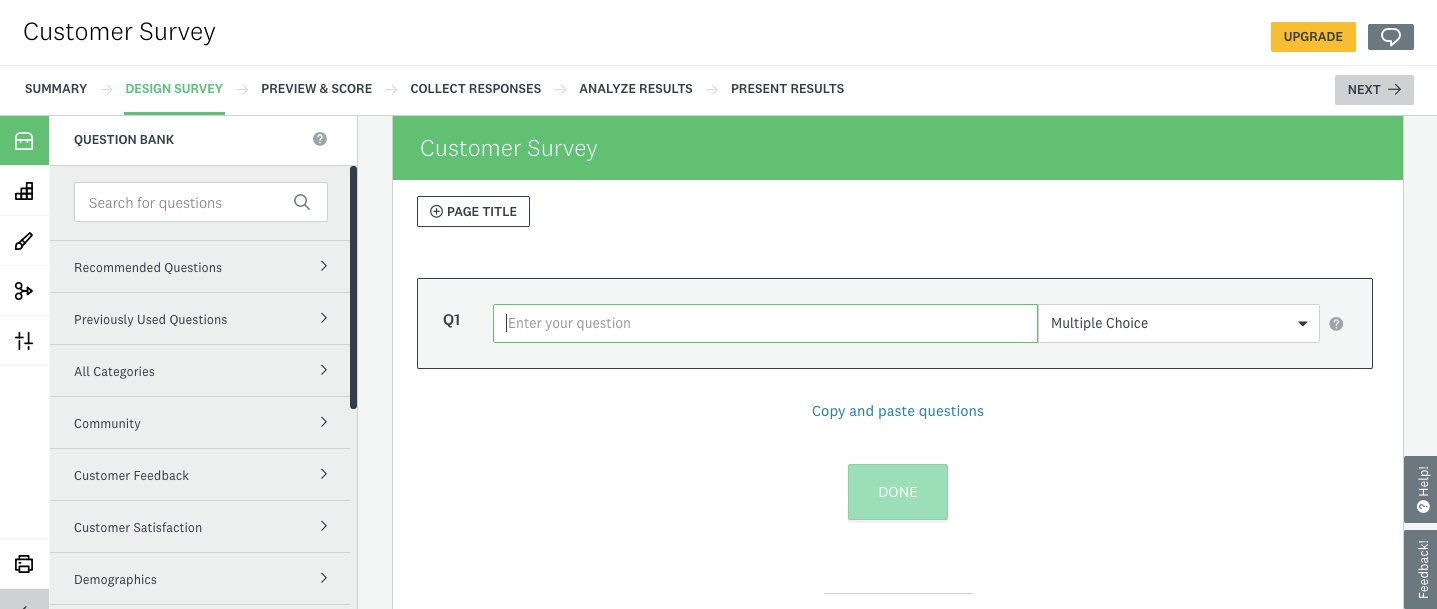 how to create a survey on surveymonkey step 3