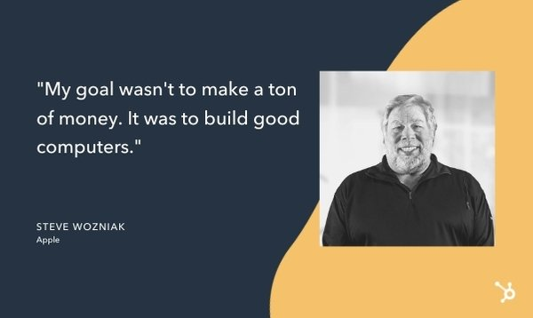 quote from steve wozniak that reads
