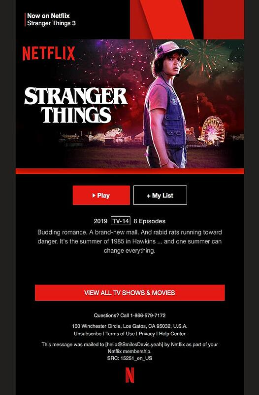 netflix viewer engagement new season email notification example