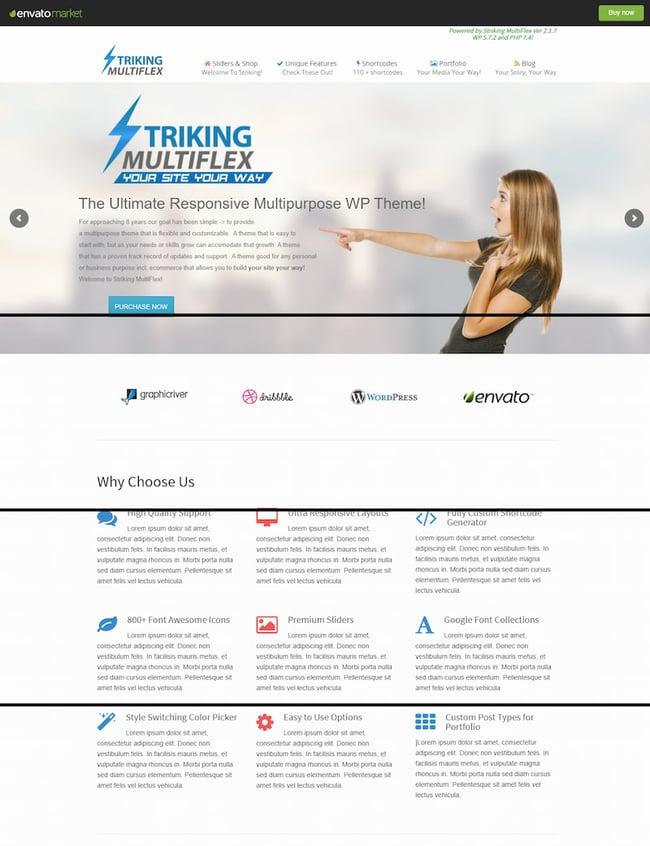 Striking right-to-left (RTL) WordPress theme
