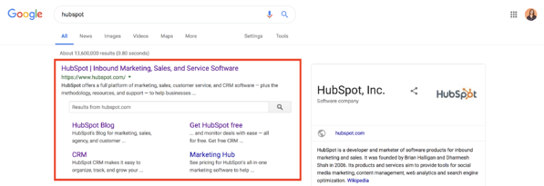 structured data sitelinks searchbox google example hubspot