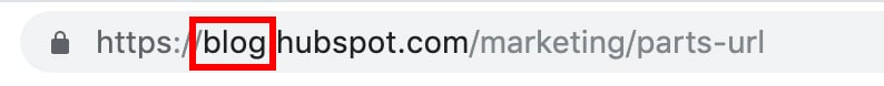 parts of a url: subdomain