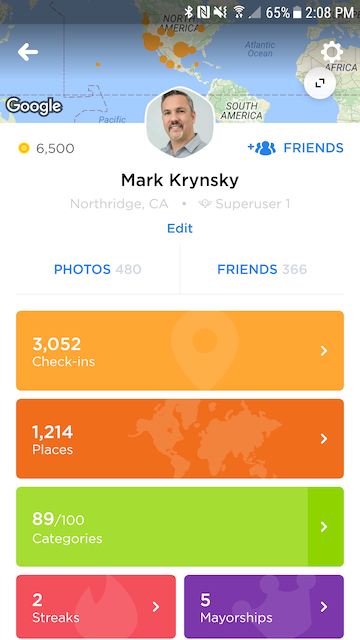 Swarm 5.0 app profile page  15 of the Best Lifestyle Mobile Apps You Need in Your Pocket swarm app profile