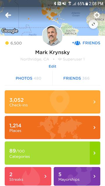 Swarm 5.0 app profile page