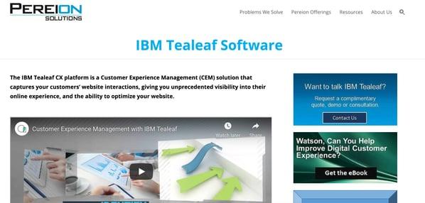 tealeaf customer management experience software
