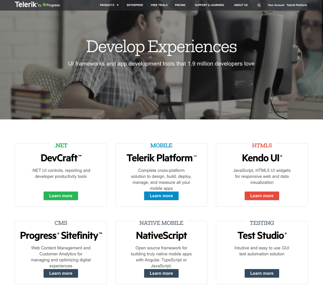 Captivating Telerik Homepage Design.png