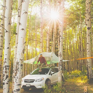 Tentsile Instagram account showing campground