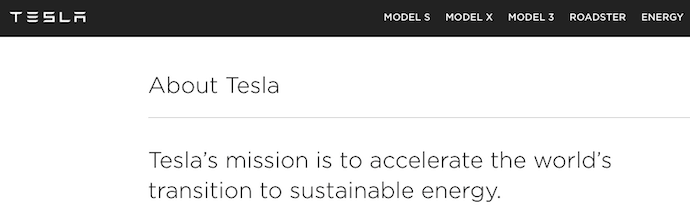 Tesla vision and mission statement
