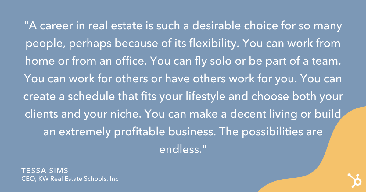 tessa sims quote for becoming a successful real estate agent