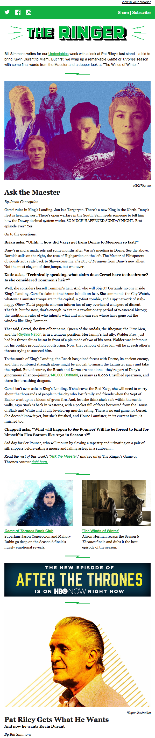 The Ringer Newsletter Example.png  Example News Letter