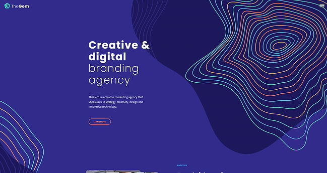 WordPress graphic design portfolio theme by TheGem