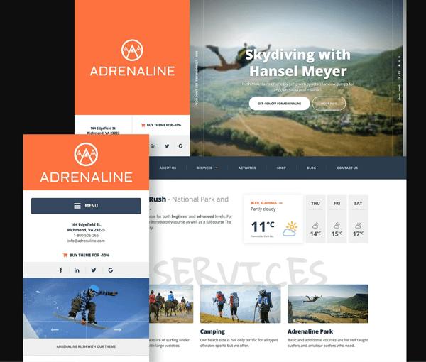 themeisle adrenaline travel wordpress theme