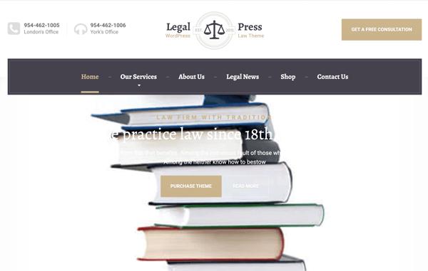 themeisle legalpress legal wordpress theme