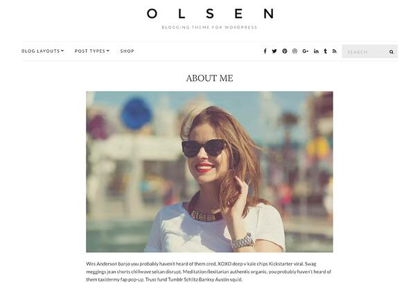 themeisle olsen blogging wordpress theme