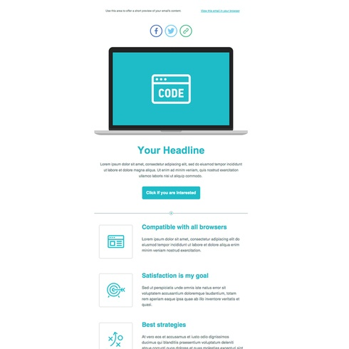 Free email newsletter template by Themezy