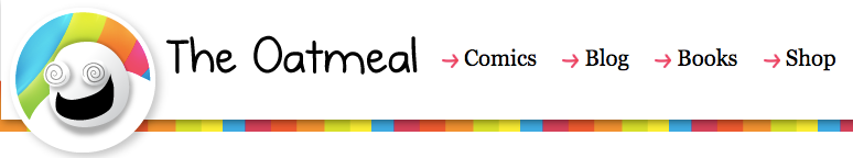 The Oatmeal website header