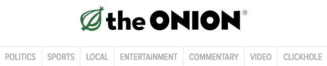 The Onion website banner