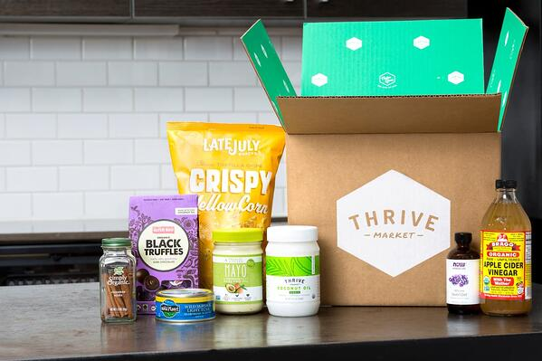 thrive market products including mayo, truffle, apple cider vinegar