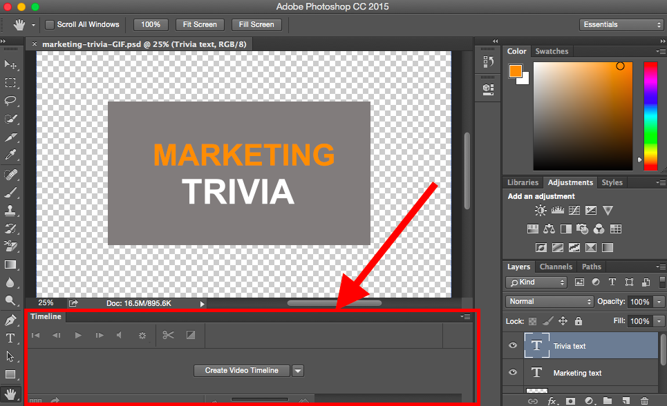 how to make an animated gif smaller in photoshop