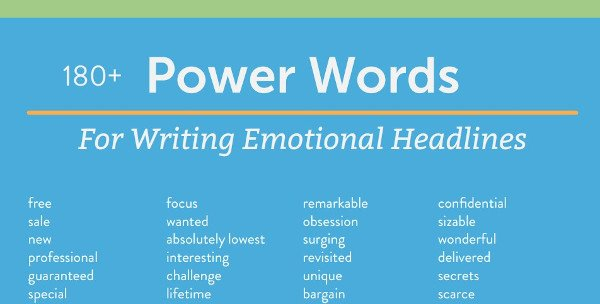 "tip sheet example from coschedule that reads ""180+ power words for writing emotional headlines"""