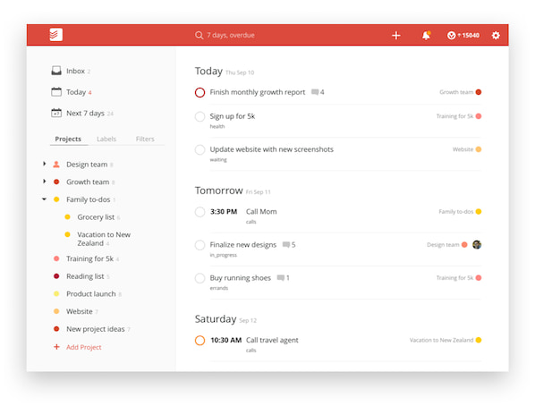 todoist time management app