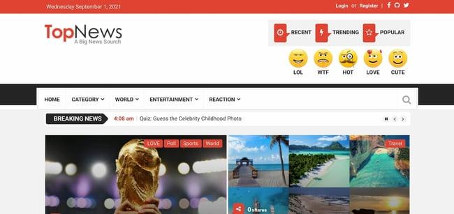 Best viral WordPress themes: TopNews