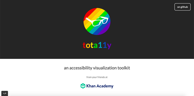 tota11y is a web accessibility testing tool for beginners