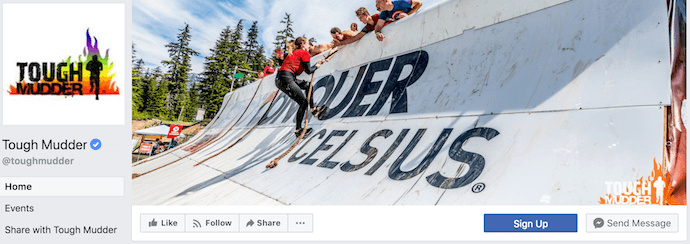 Tough Mudder Facebook Business Page
