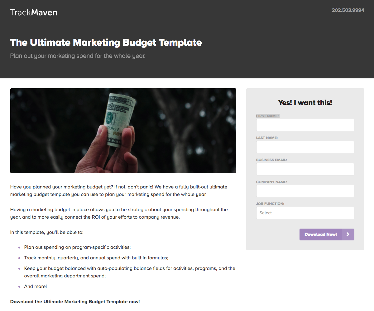 trackmaven_marketing_budget_template.png  15 Creative Lead Generation Ideas to Try trackmaven marketing budget template