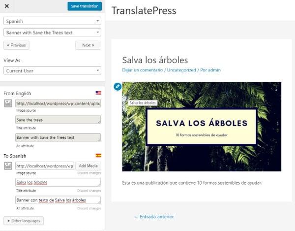 TranslatePress Plugin Translation Plugins for Multilingual WordPress Sites