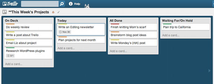 Trello to do list app