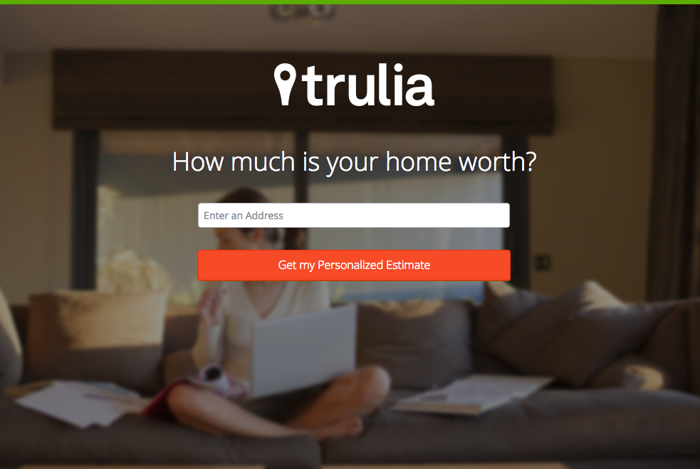 Trulia的登陸頁面,example.png