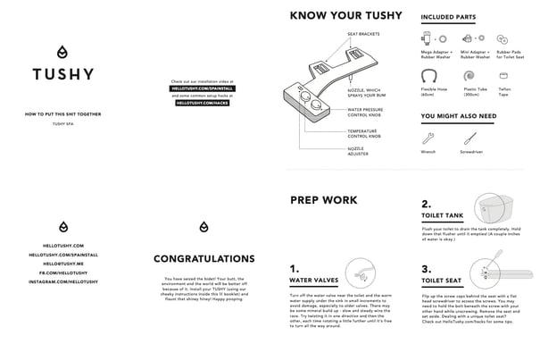 instruction manual example: tushy