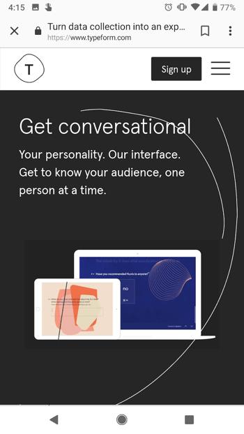 typeform-mobile-website
