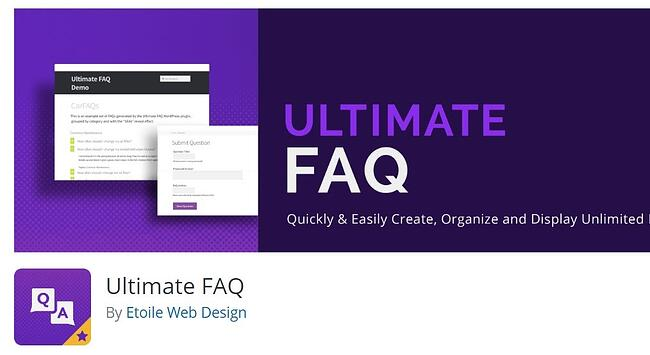 two-toned purple background ultimate FAQ download by Etoile Web Design