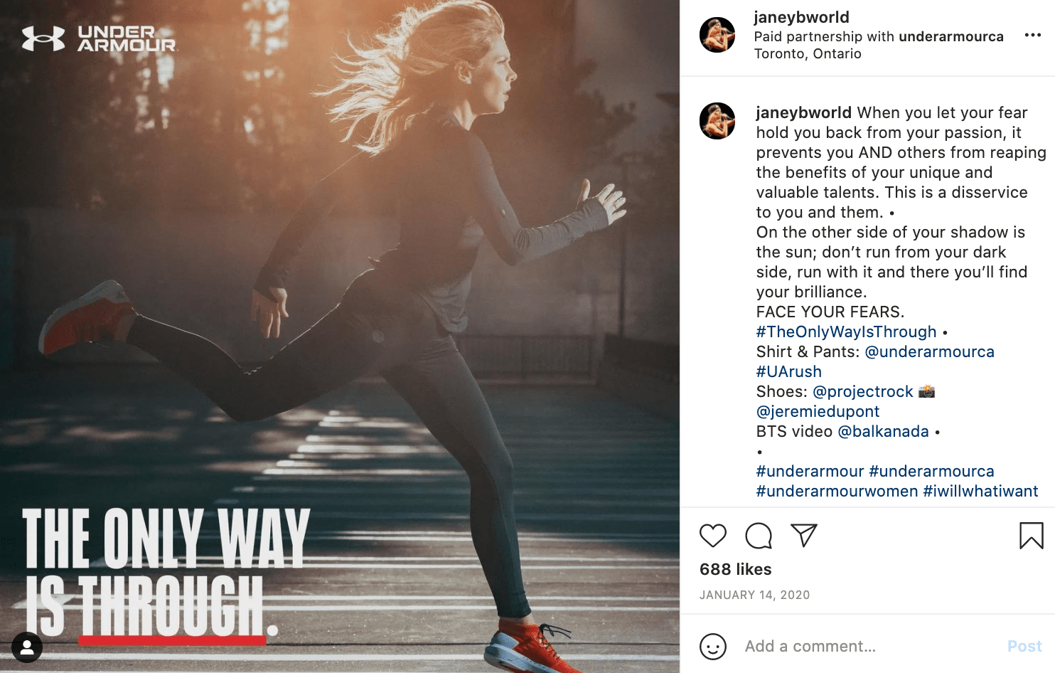 under armour's instagram campaign, an example of internet marketing