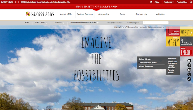 14 of the best college websites and why theyre so awesome university of maryland websiteg pronofoot35fo Choice Image