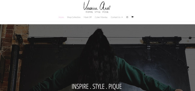veronica ariel clothing boutique example divi site