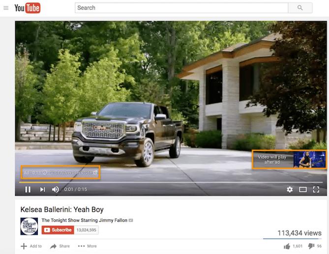 """Pre-roll de anuncios en YouTube con las características """"no saltables"""" resaltadas en el video"""