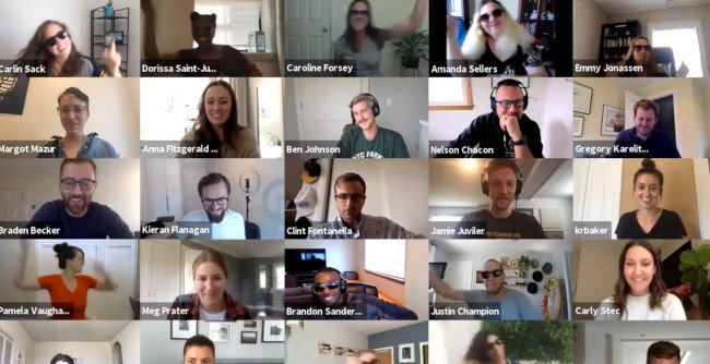 HubSpot's virtual flash mob on Zoom