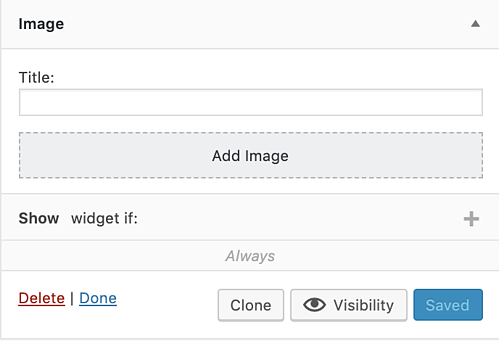 visibility of custom sidebars plugin to add widget to WordPress page