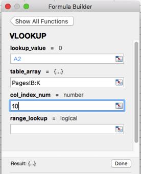 Column index number field in VLOOKUP formula builder