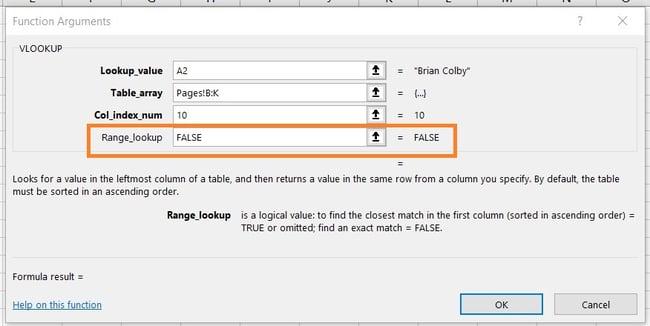 Using VLOOKUP: Designating Range Lookup as True or False