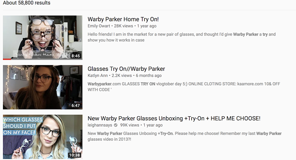 warby parker home try on d2c brands marketing