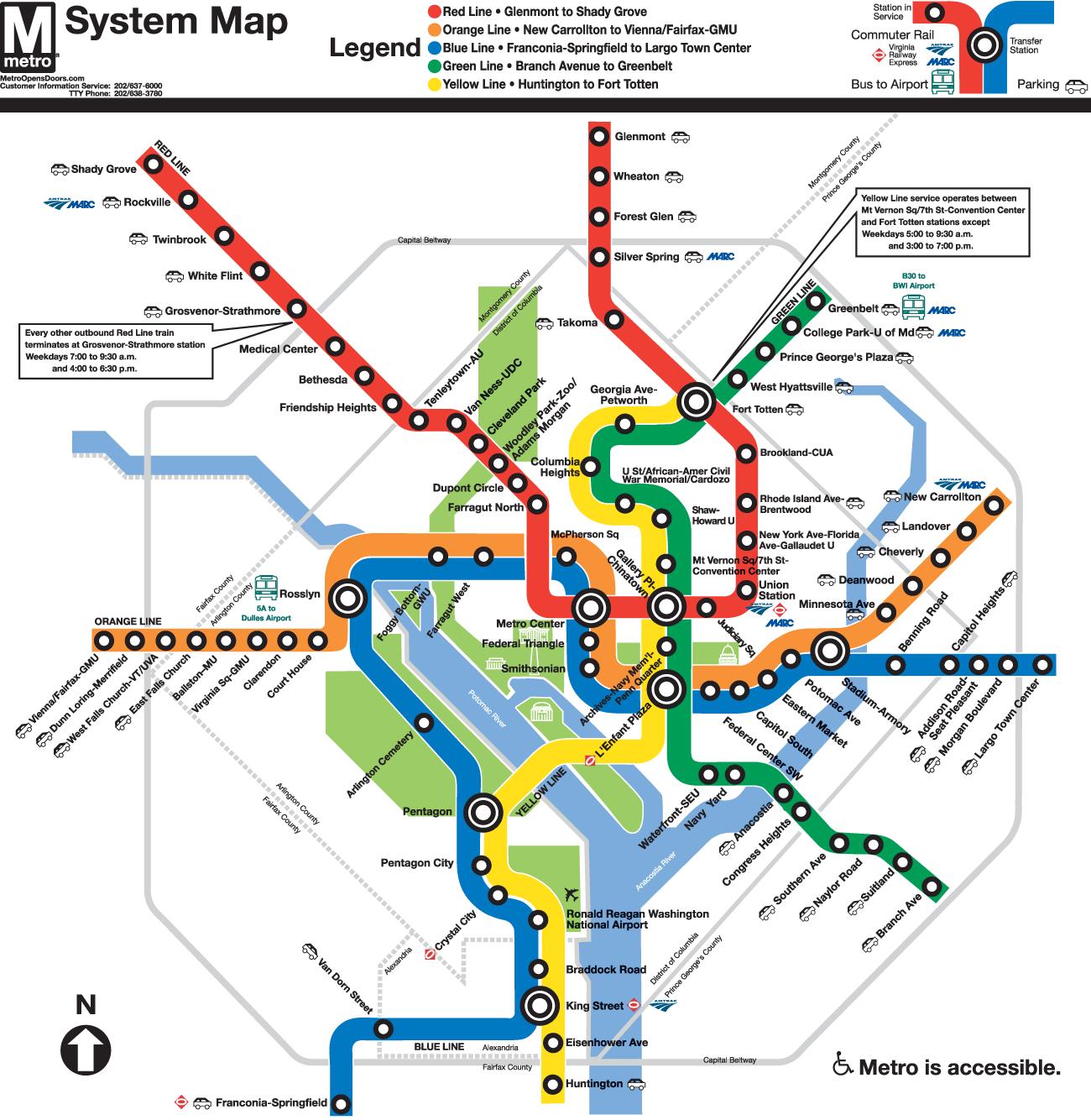 Washington Subway Map