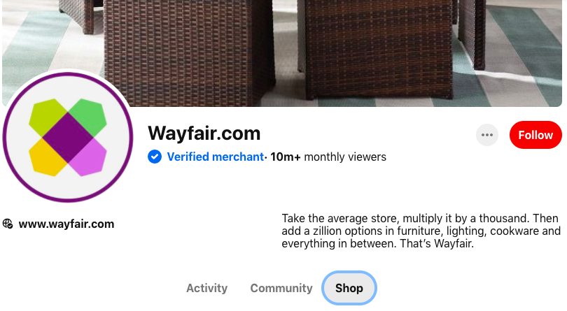wayfair verified pinterest