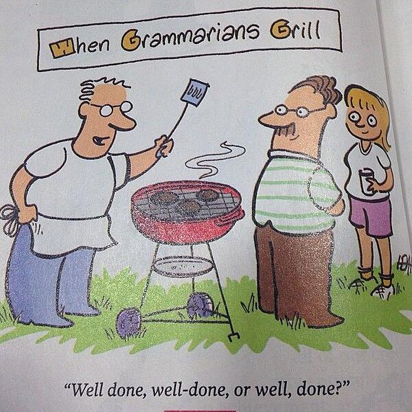 when-grammarians-grill grammar joke