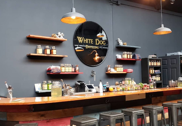 white dog distilling's location